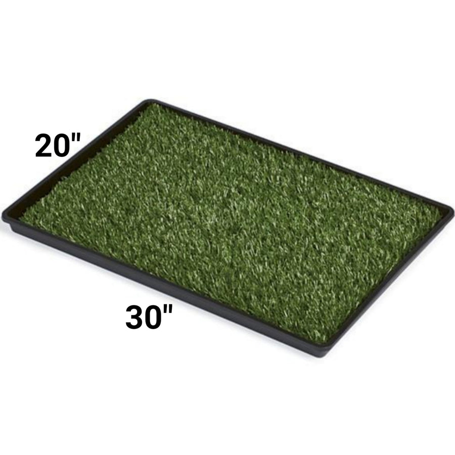 Mr. Peanut's Potty Place - Artificial Grass Puppy Pad for Dogs and Small Pets – Portable Training Pad with Tray