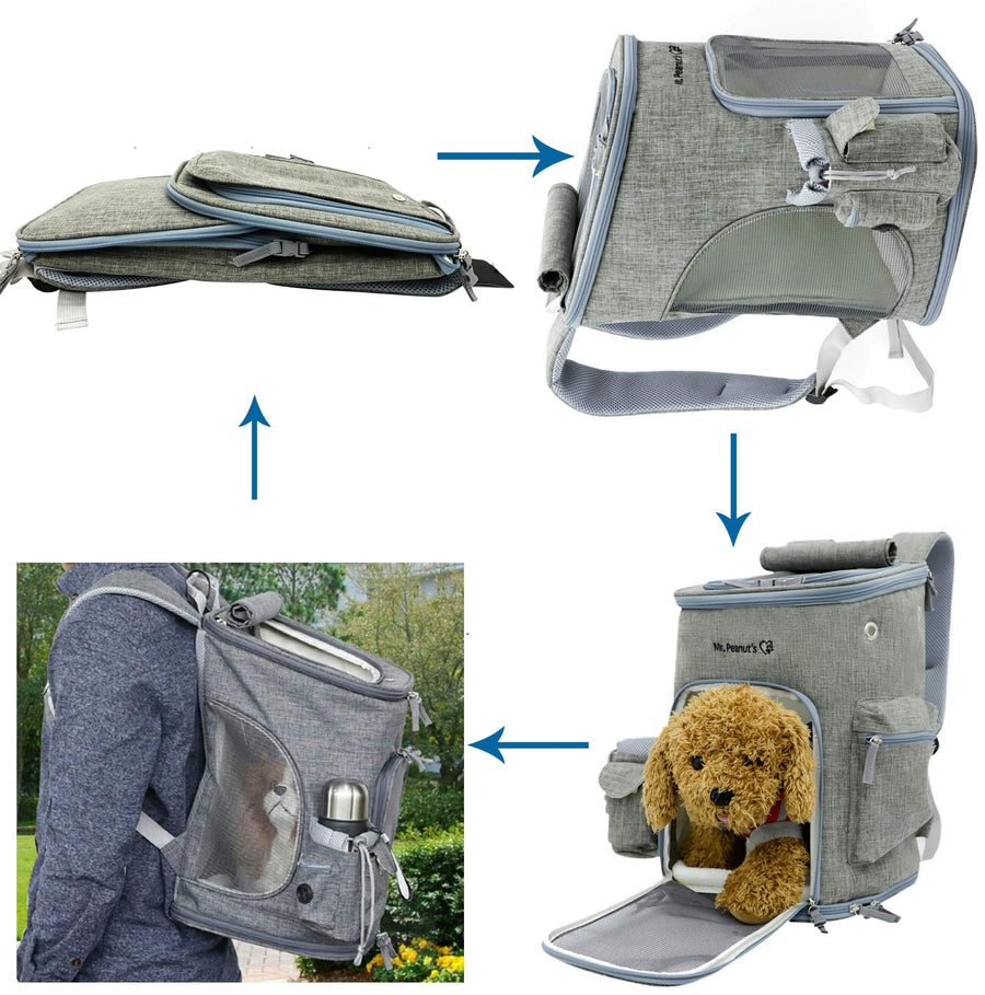 Backpack Soft Sided Airline Approved Pet Carrier for Small Cats and Dogs