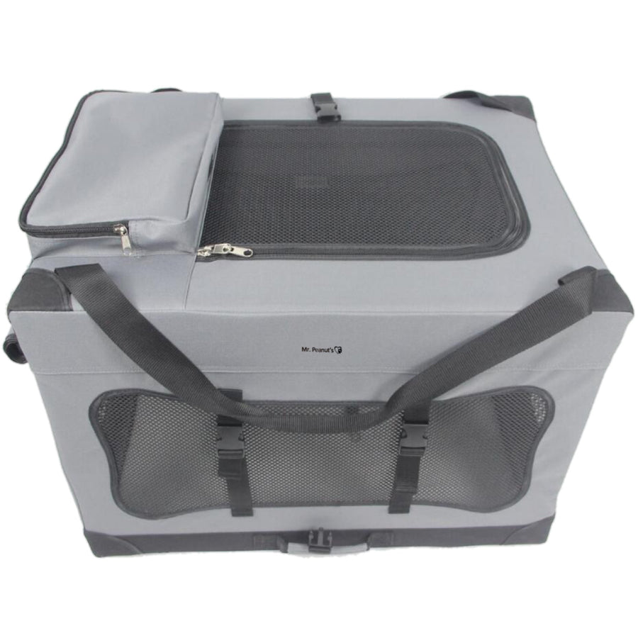 "Soft Sided Portable Pet Crate with Lightweight (4lb) Aluminum Frame, 24L x 18W x 17""H"
