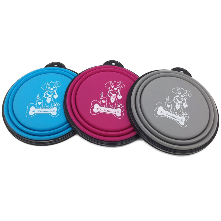 3 Pak Collapsible Silicone Bowls with Color Matched Carabiner Clips