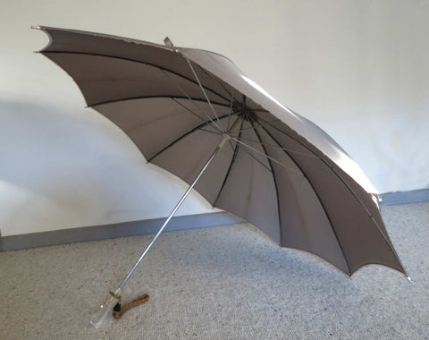 vintage 1950s nylon umbrella with lucite handle