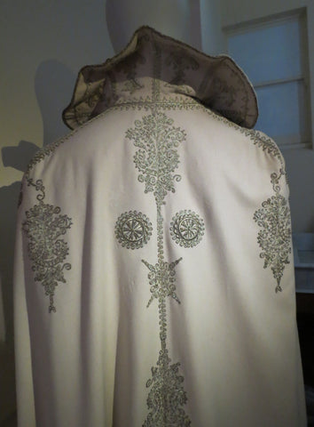 opera cape 1900 metallic embroidery on wool