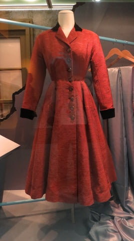 stella dare stell-ricks australian fashion designer 1950s silk rust coat you cant do that melbourne museum