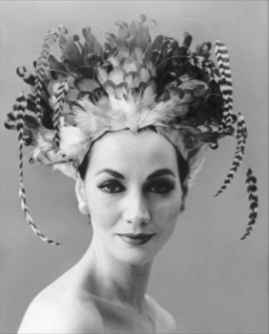 bill cunningham william j hat 1950s feathers