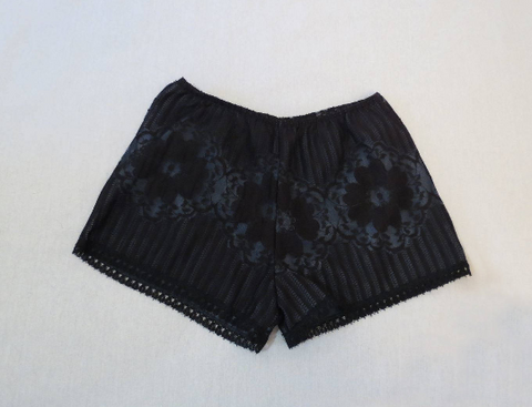 1960s black hot pants