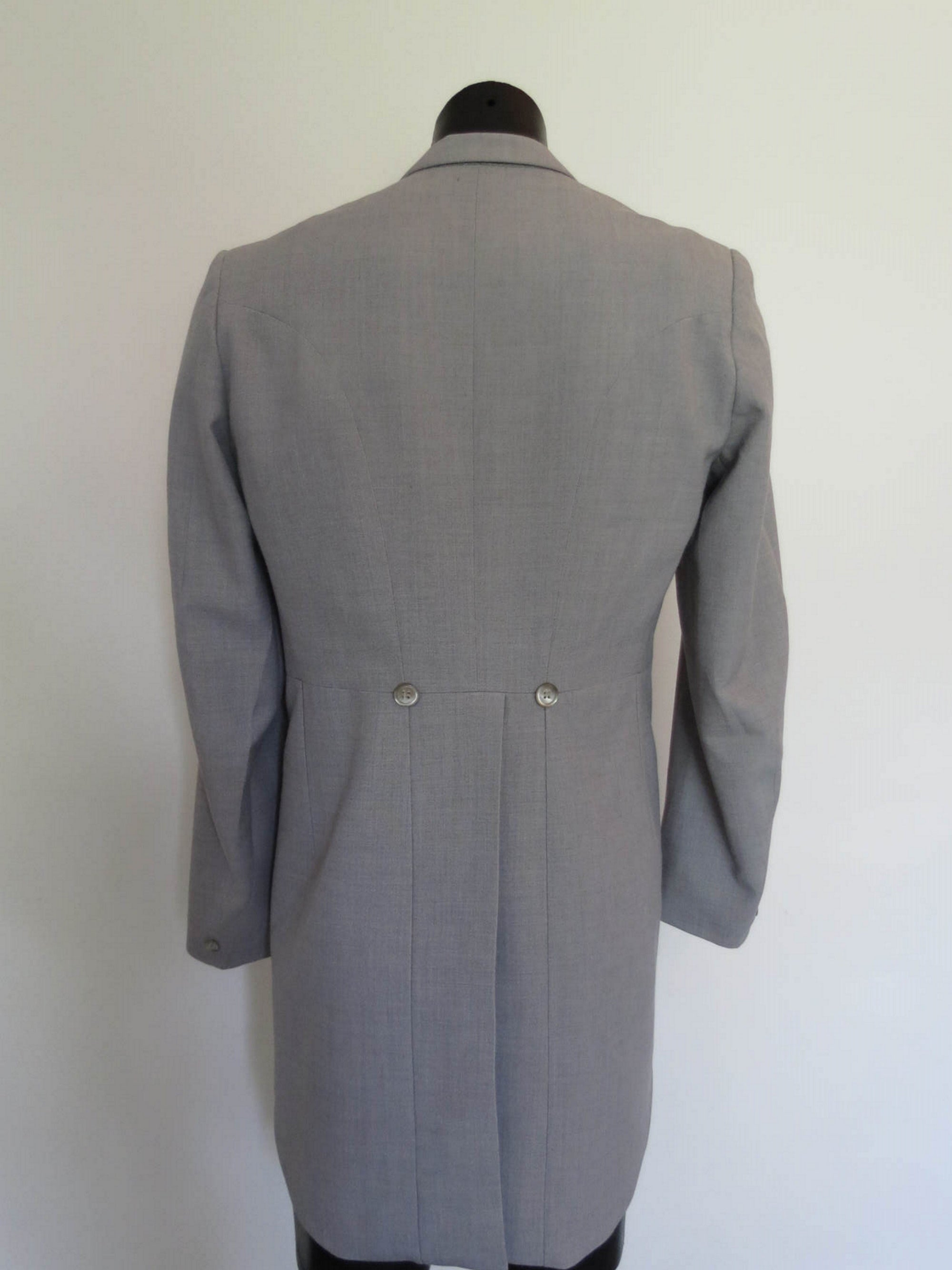 vintage grey morning coat wedding coat