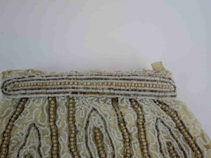 vintage 1930s pearl beaded silk evening bag dance purse