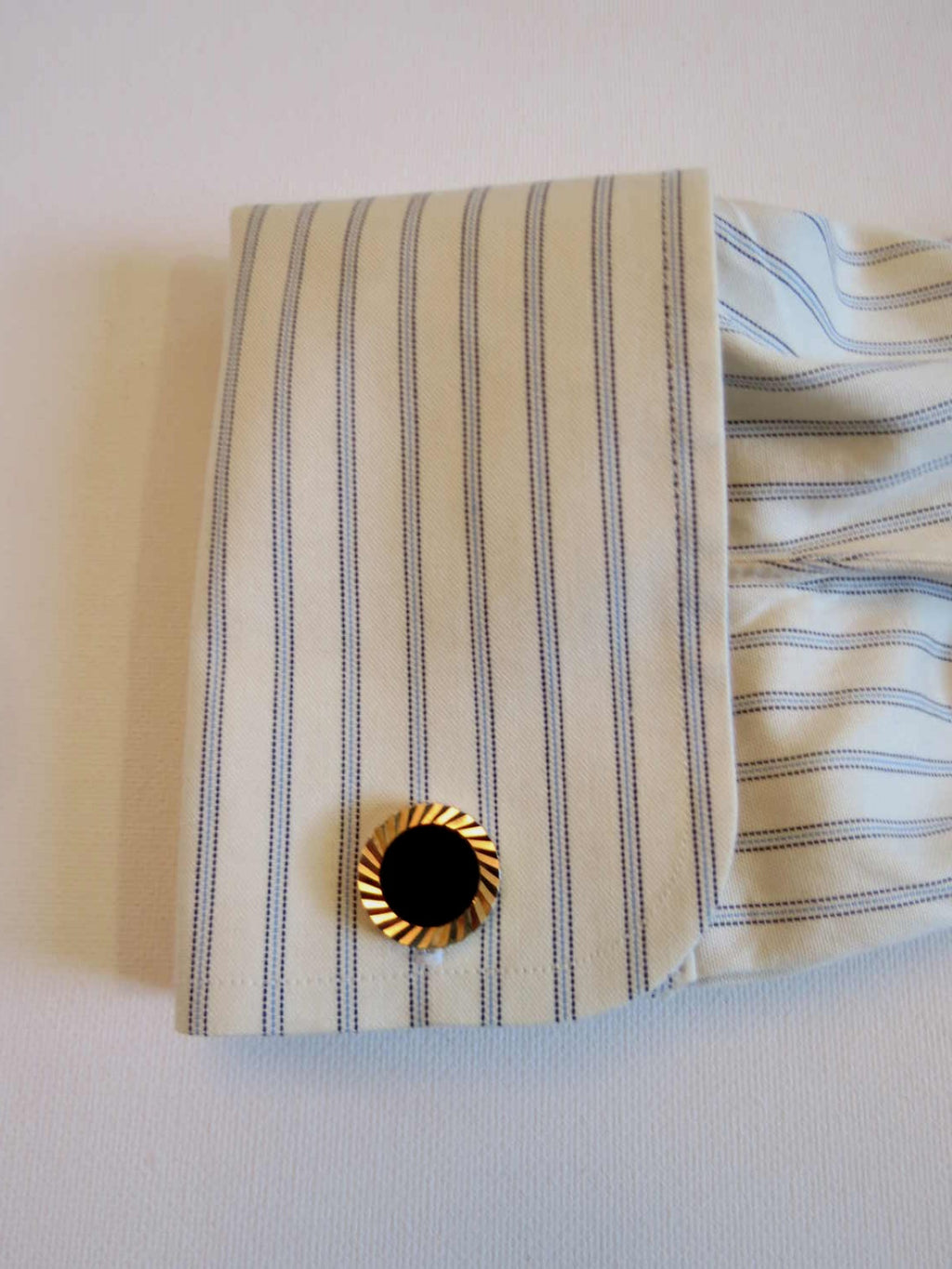 Black and Gold Cuff Links by Smartset