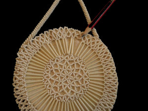 1930s vintage round czech beaded evening purse
