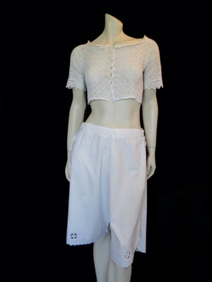 Antique, Edwardian Drawers - Summer Pants - Waist 80-82 cm