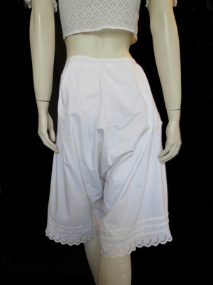 antique edwardian drawers knickers culottes broderie anglaise eyelet trim