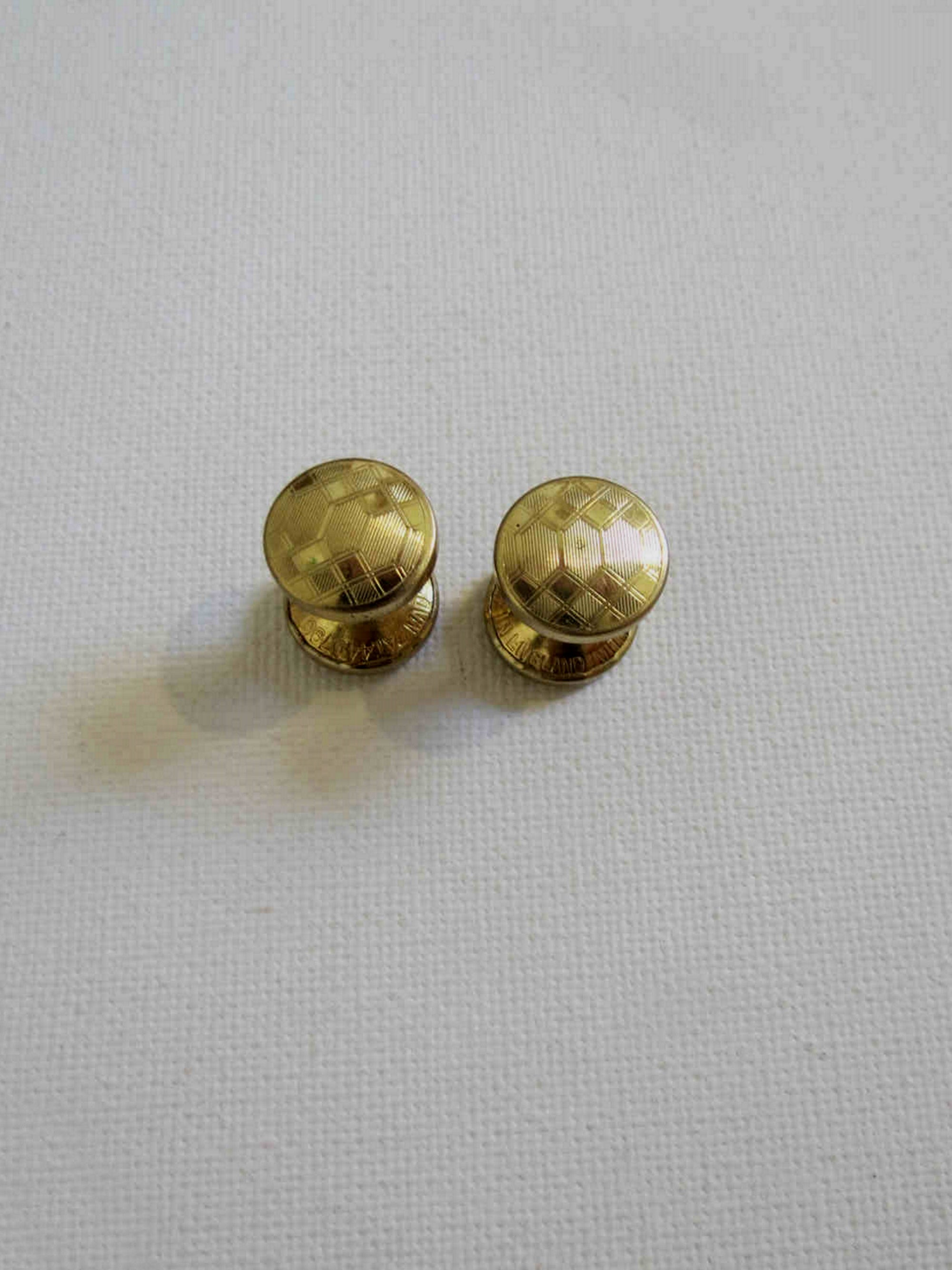 vintage gold tone retractable chain cufflinks