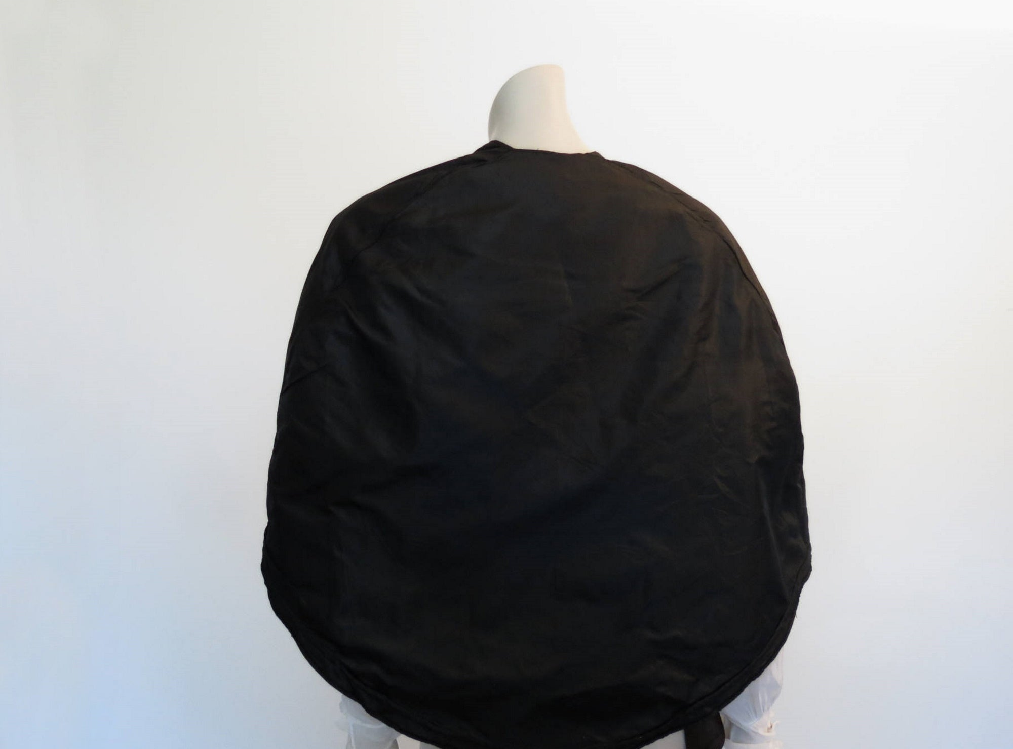 antique vintage victorian black silk cape 1860s civil war