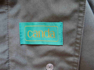 vintage mens trench coat green by canda