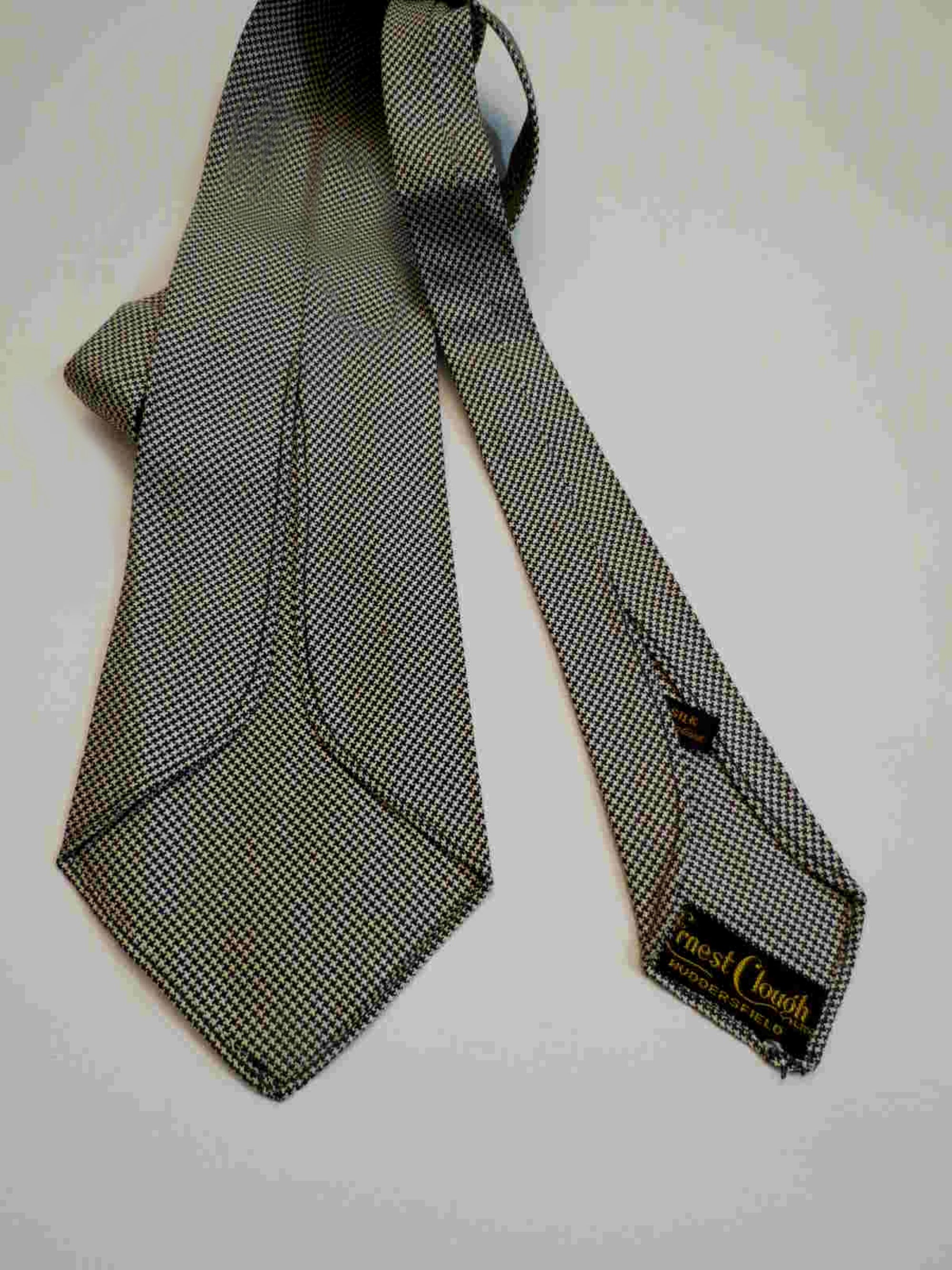 Vintage Houndstooth Silk Tie by Ernest Clough - 1940s