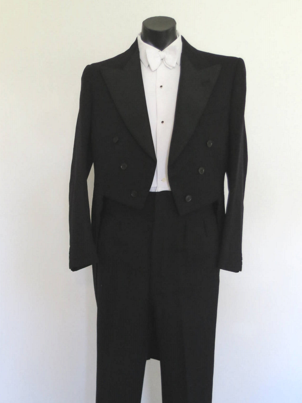 1960s vintage tails suit formal high waisted pants