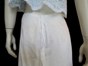 antique edwardian petticoat skirt with lace border