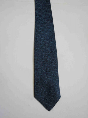 1960s vintage blue rayon tie by long island