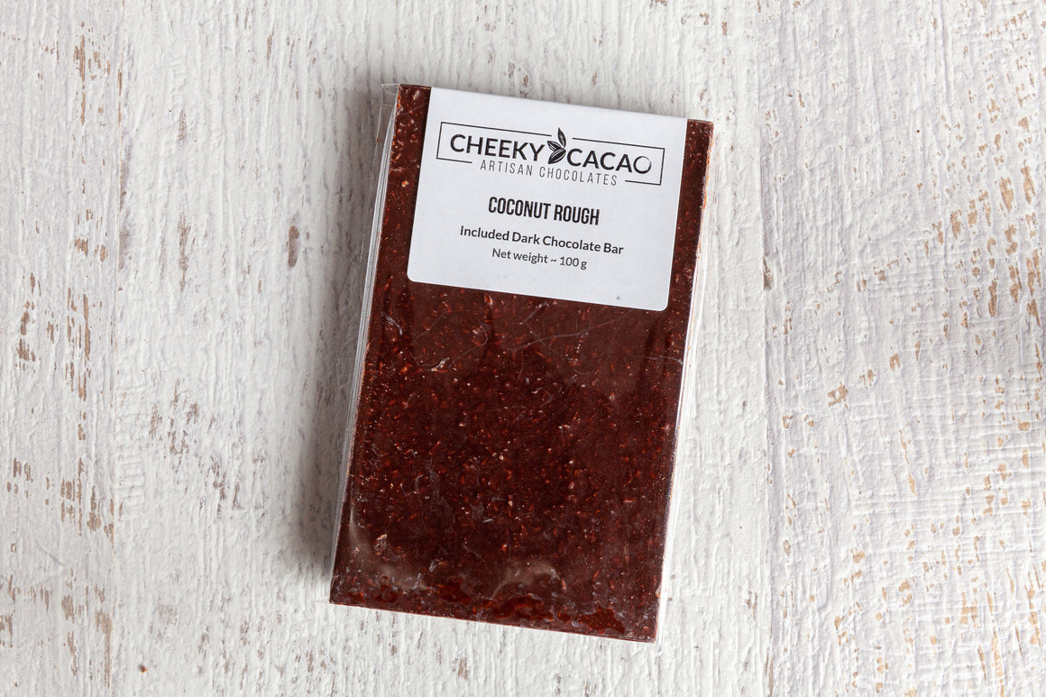 Cheeky Cacao Coconut Rough Topped Bar (100g)