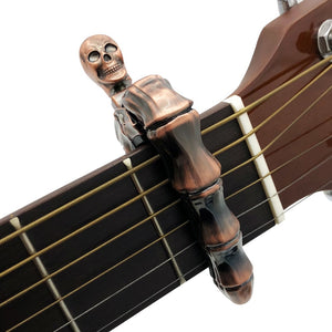 Epic Metal Skull Finger Guitar Capo - Heavy Metal Jewelry Clothing