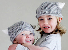 Metal Baby and Kids Viking Horns Crochet Beanie Hat - Heavy Metal Jewelry Clothing