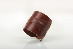 X Strap Heavy Metal Leather Bracelet - Heavy Metal Jewelry Clothing