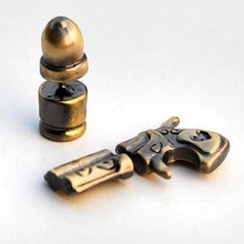 Metal Pistol Gun and Bullet Stud Earrings - Heavy Metal Jewelry Clothing