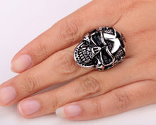 Metal Massive Black Skull Ring Stainless Steel - Heavy Metal Jewelry Clothing