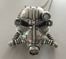 Metal Post Apocalyptic Gas Mask Helmet Pendant Necklace - Heavy Metal Jewelry Clothing