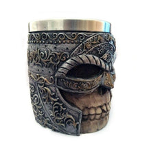 Metal Masked Viking Skull Helmet Tankard Drinking Mug Stainless Steel - Heavy Metal Jewelry Clothing