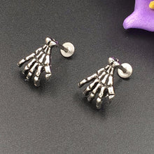 Metal Skeleton Hand Earrings Stainless Steel - Heavy Metal Jewelry Clothing