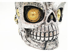 Metal Gothic Steampunk Skull Mug with Cog Eyes - Heavy Metal Jewelry Clothing