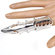 Metal Vampire Claw Ring Full Finger - Heavy Metal Jewelry Clothing