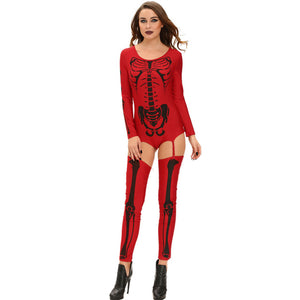 Metal Skeleton Costume with Lingerie - Heavy Metal Jewelry Clothing