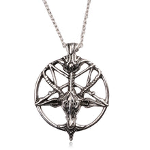 Metal Baphomet Pentagram Goat's Head Pendant - Heavy Metal Jewelry Clothing