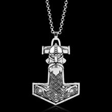 Metal Thor's Hammer Mjolnir Knots Viking Amulet Pendant Necklace - Heavy Metal Jewelry Clothing