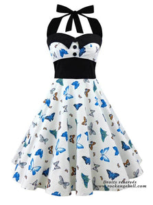 Beautiful Skulls, Roses and Butterflies Dress Metal / Punk / Gothic - Heavy Metal Jewelry Clothing