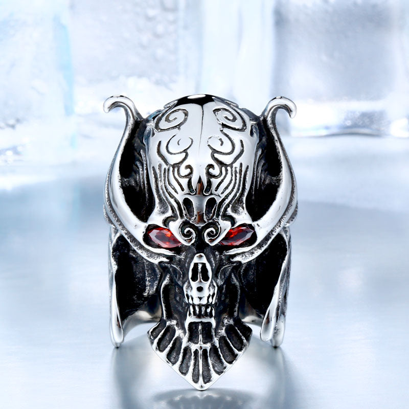 Metal Punk Gothic Beast Devil Horns Ring Stainless Steel - Heavy Metal Jewelry Clothing
