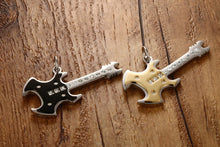 Metal Guitar Warlock Pendant Necklace Stainless Steel - Heavy Metal Jewelry Clothing