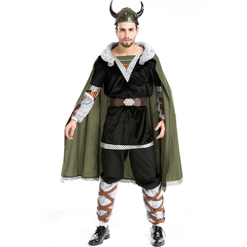 Metal Viking Warrior Nordic with Helmet Costume - Heavy Metal Jewelry Clothing