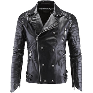 Metalhead Leather Jacket Coat Skull Biker Style - Heavy Metal Jewelry Clothing