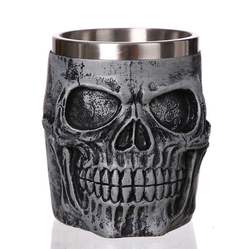 Heavy Metal Charred Skull Mug Stainless Steel - Heavy Metal Jewelry Clothing