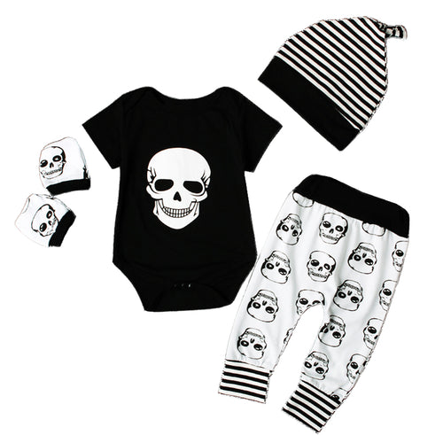 Metal Punk Gothic Baby Clothing Skulls Full Outfit - Heavy Metal Jewelry Clothing