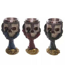 Metal Skull Chalice with Eagle Talons Claws Holding Goblet Tankard Stainless Steel - Heavy Metal Jewelry Clothing