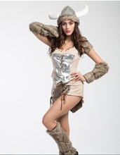 Metal Female Viking Costume with Hat - Heavy Metal Jewelry Clothing