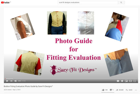 Bodice Photo Guide for Fitting Evaluation