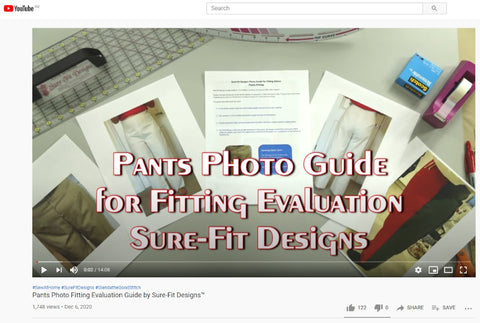 Pants Photo Guide for Fitting Evaluation