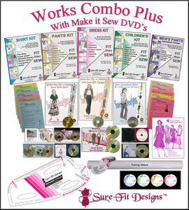 Sure-Fit Designs Works Combo Plus Make It Sew DVDs