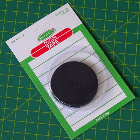Cotton Tape 6mm - BLACK