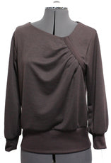 Asymmetrical Pleated T-Shirt